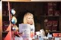 Christmas in Milan: sad girl Royalty Free Stock Photo