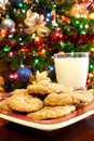 Christmas Milk and Cookies Royalty Free Stock Photo