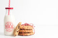 Christmas milk and cookies. Royalty Free Stock Photo