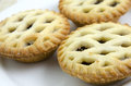 Christmas mince pie lattice with sugar bits Royalty Free Stock Photography