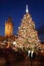 Christmas mood on the old town square prague czech republic Stock Image