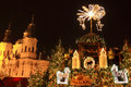 Christmas mood on the old town square prague czech republic Stock Photo