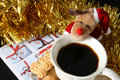 Christmas Morning Coffee Stock Images