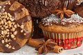 Christmas muffins Royalty Free Stock Images