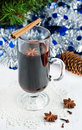 Christmas mulled wine Stock Photo