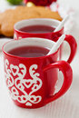 Christmas mulled wine and gingerbread Royalty Free Stock Photography
