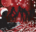Christmas music poster.DJ Royalty Free Stock Image