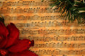 Christmas music vintage background Royalty Free Stock Photo