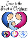 Christmas Nativity Heart/eps Stock Photo