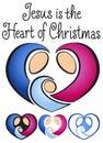 Christmas Nativity Heart/eps