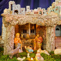 Christmas Nativity Scene: Baby Jesus, Mary, Joseph Royalty Free Stock Image