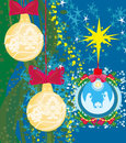 Christmas nativity scene of baby Jesus in transparent ball Royalty Free Stock Photo