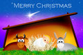 Christmas nativity scene illustration of Stock Photography