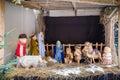 Christmas nativity scene of jesus birth Royalty Free Stock Photo