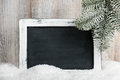 Christmas and New Year background with blank chalkboard Royalty Free Stock Photo