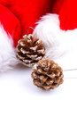 Christmas or New Year background. decoration fir tree branches Royalty Free Stock Photo
