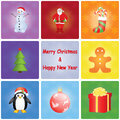 Christmas and new year background merry happy Stock Image