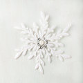 Christmas and New Year background. Snowflake . Copy space. Royalty Free Stock Photo