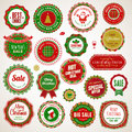 Christmas and New Year badges and stickers Royalty Free Stock Image