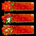 Christmas and New Year banners Royalty Free Stock Photo