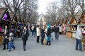 Christmas and new year bazaar in the center of lvov ukraine december on market square opened s Stock Photography