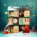 Christmas or New Year calendar