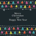Christmas and New Year card Stock Image