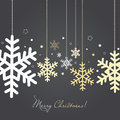 Christmas and new year card with snowflakes holiday Stock Images