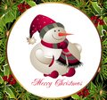 Christmas and New Year card with snowman Stock Photography