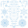 Christmas,New year decor set.Winter borders,elements