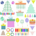 Christmas and New Year decoration elements.  Stock Image