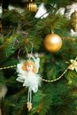Christmas and new year decoration is a little white angel Royalty Free Stock Photo