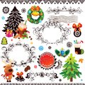 Christmas and new year decoration set this is file of eps format Stock Images