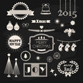 Christmas and New Year design and decoration elements set Royalty Free Stock Photo