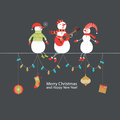 Christmas and New Year greeting card Stock Images