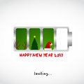 Christmas and new year greeting card design Royalty Free Stock Photo
