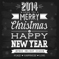 Christmas and new year greetings chalkboard eps vector with transparency Stock Images