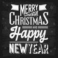 Christmas and new year greetings chalkboard eps vector with transparency Royalty Free Stock Photo