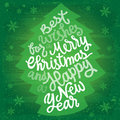 Christmas and new year greetings eps vector with transparency grunge textures placed in separate layers Stock Photo