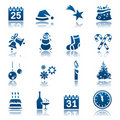 Christmas & New Year icon set Royalty Free Stock Photo