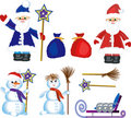 Christmas ,New Year icons Stock Photos
