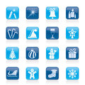 Christmas and new year icons Royalty Free Stock Photography
