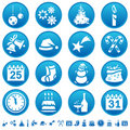 Christmas & New Year icons Stock Images