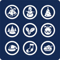 Christmas and New Year icons (set 1, part 2) Royalty Free Stock Photos