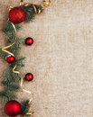 Christmas New Year rustic decoration background top view