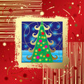 Christmas & New Year's card Stock Photography