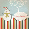 Christmas and New Year's greeting card Royalty Free Stock Image