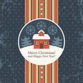 Christmas and New Year's greeting card Stock Images