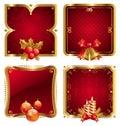 Nový roky luxus zlatý rámy