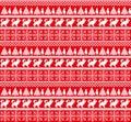 Christmas New Year`s winter seamless festive Norwegian pixel pattern - Scandinavian style
